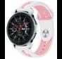 Strap-it® Samsung Galaxy Watch duo sport band 45mm / 46mm (wit/roze)