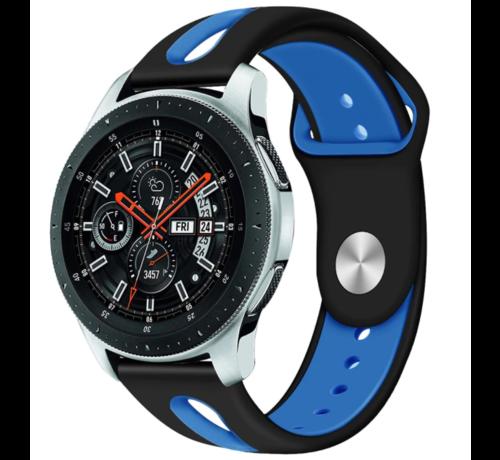 Strap-it® Strap-it® Samsung Galaxy Watch duo sport band 45mm / 46mm (zwart/blauw)