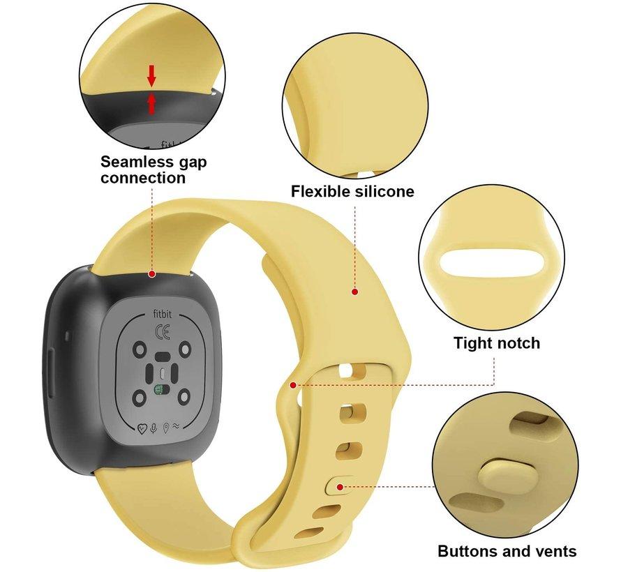 Strap-it® Fitbit Sense siliconen bandje (geel)