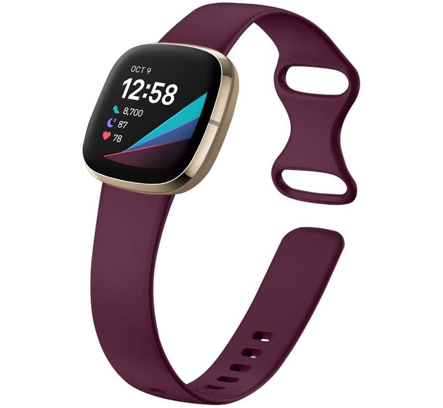 Strap-it® Fitbit Sense siliconen bandje (paars)