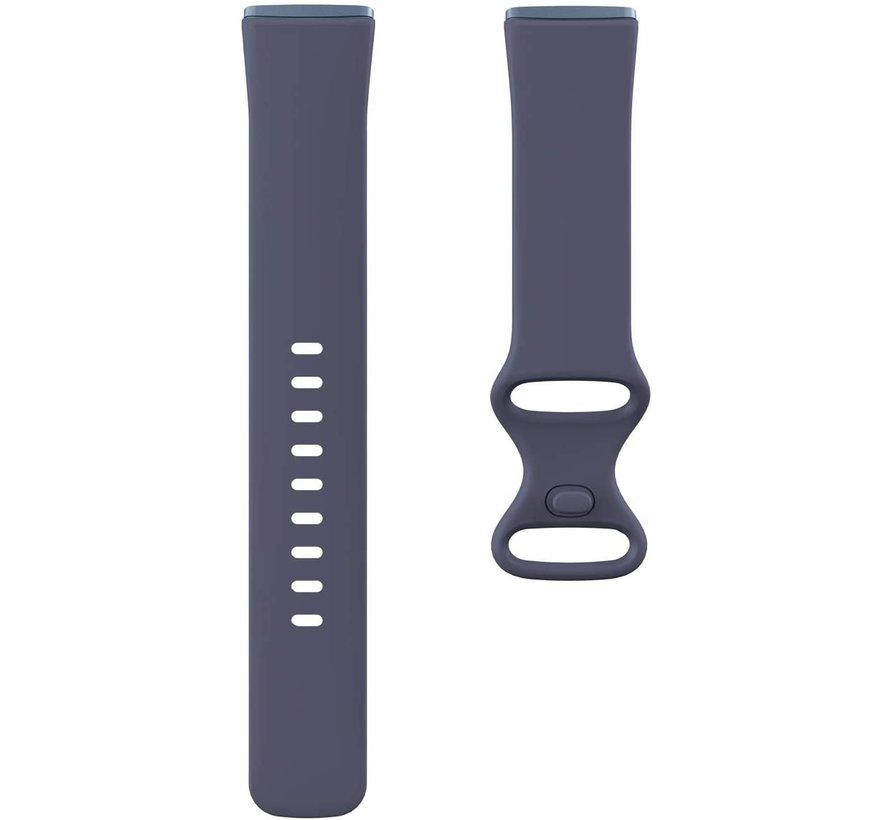 Strap-it® Fitbit Sense siliconen bandje (grijsblauw)