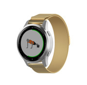 Strap-it® Garmin Vivoactive 4s Milanese band - 40mm - goud