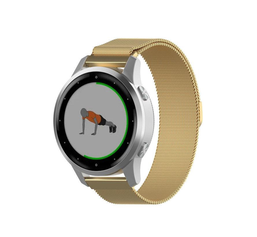 Strap-it® Garmin Vivoactive 4s Milanese band - 40mm - goud