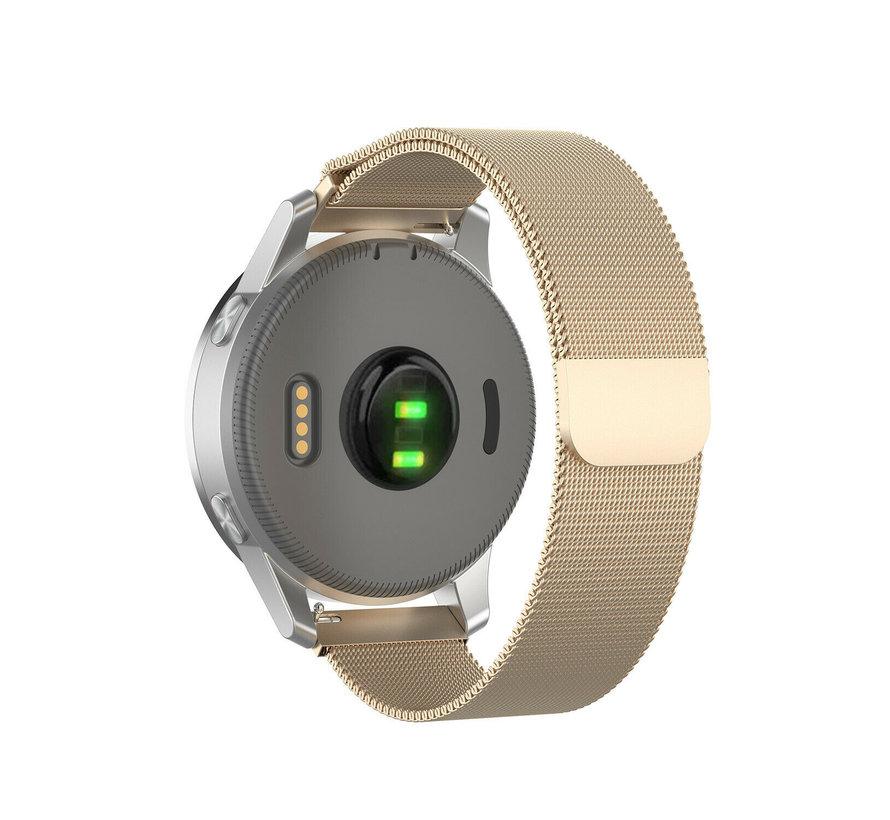 Strap-it® Garmin Vivoactive 4s Milanese band - 40mm - champagne goud