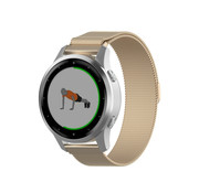 Strap-it® Garmin Vivoactive 4s Milanese band - 40mm - champagne goud