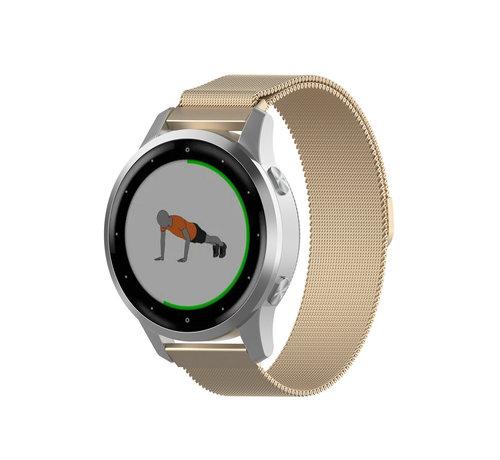 Strap-it® Strap-it® Garmin Vivoactive 4s Milanese band - 40mm - champagne goud