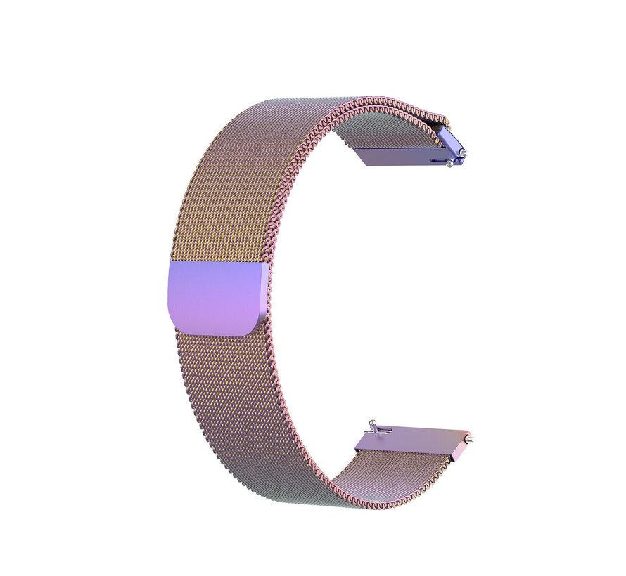Strap-it® Garmin Vivoactive 4s Milanese band - 40mm - regenboog