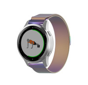 Strap-it® Garmin Vivoactive 4s Milanese band - 40mm - regenboog