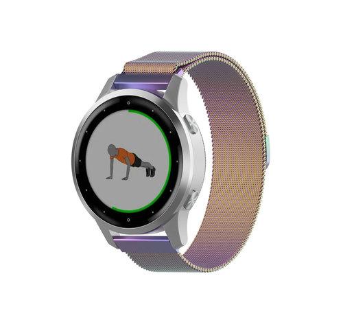 Strap-it® Strap-it® Garmin Vivoactive 4s Milanese band - 40mm - regenboog