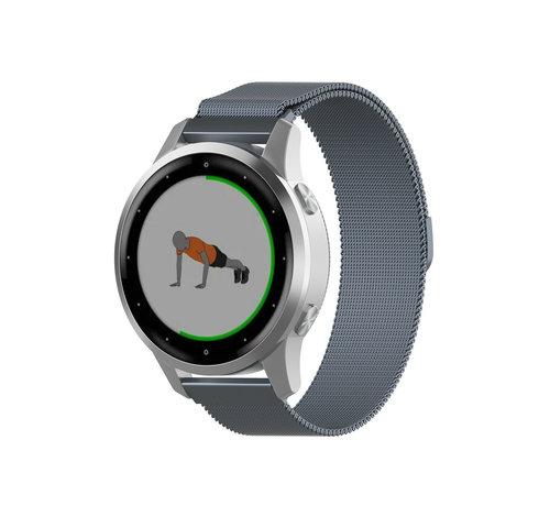 Strap-it® Strap-it® Garmin Vivoactive 4s Milanese band - 40mm - grijs
