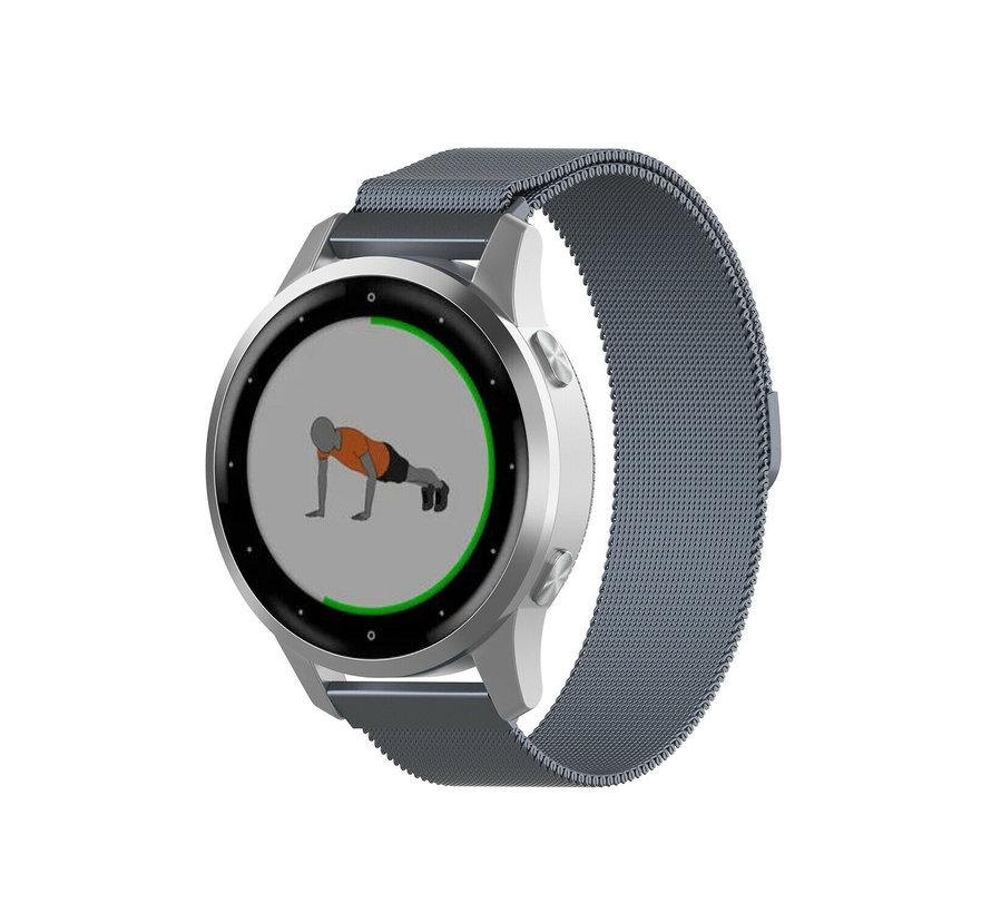 Strap-it® Garmin Vivoactive 4s Milanese band - 40mm - grijs