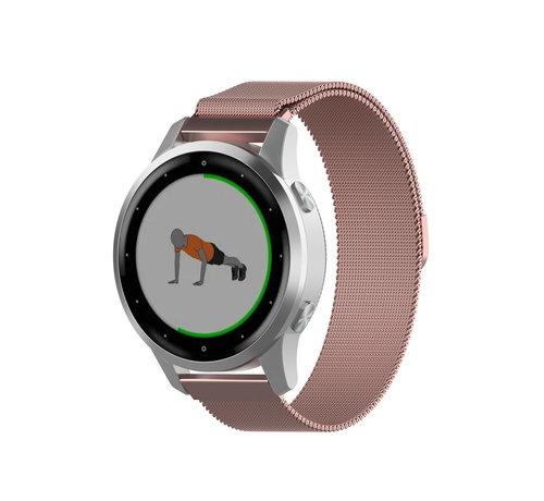 Strap-it® Strap-it® Garmin Vivoactive 4s Milanese band - 40mm - roze
