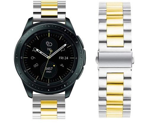 Strap-it® Strap-it® Samsung Galaxy Watch stalen band 41mm / 42mm (zilver/goud)