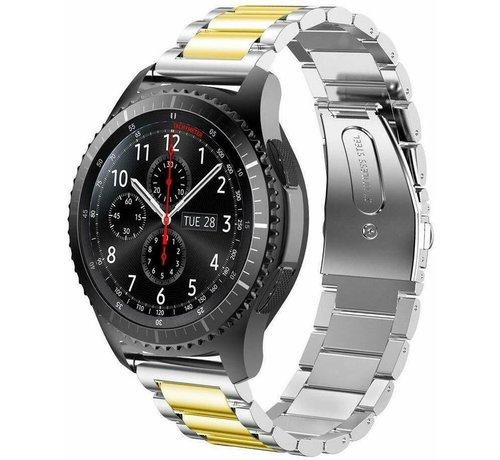 Strap-it® Strap-it® Samsung Galaxy Watch stalen band 45mm / 46mm (zilver/goud)