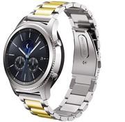 Strap-it® Samsung Gear S3 stalen band (zilver/goud)
