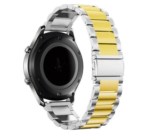 Strap-it® Strap-it® Garmin Vivomove HR stalen band (zilver/goud)