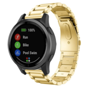 Strap-it® Garmin Vivoactive 4 stalen band - 45mm - goud