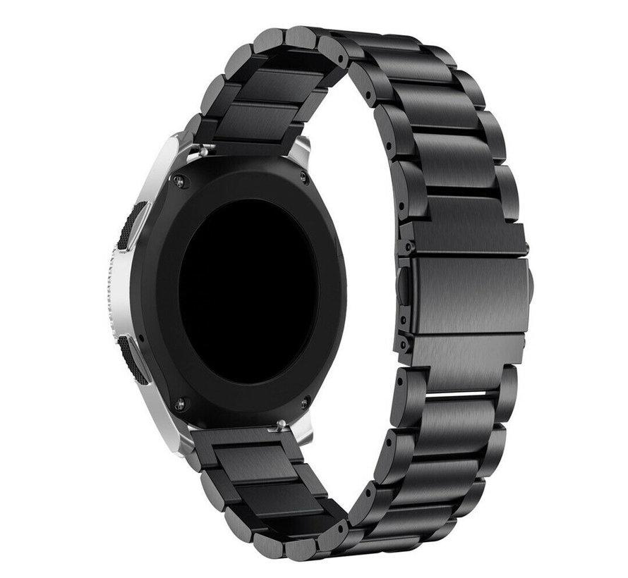 Strap-it® Garmin Vivoactive 4 stalen band - 45mm - zwart