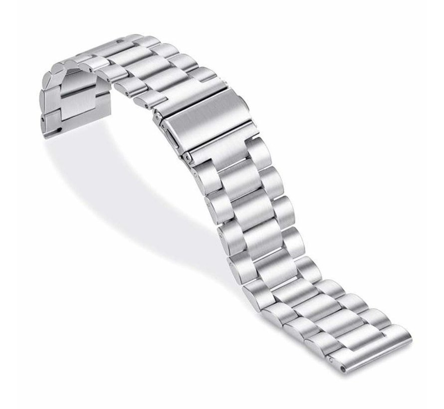 Strap-it® Garmin Vivoactive 4 stalen band - 45mm - zilver