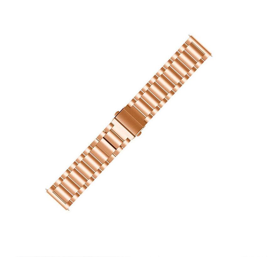 Strap-it® Garmin Vivoactive 4 stalen band - 45mm - rosé goud