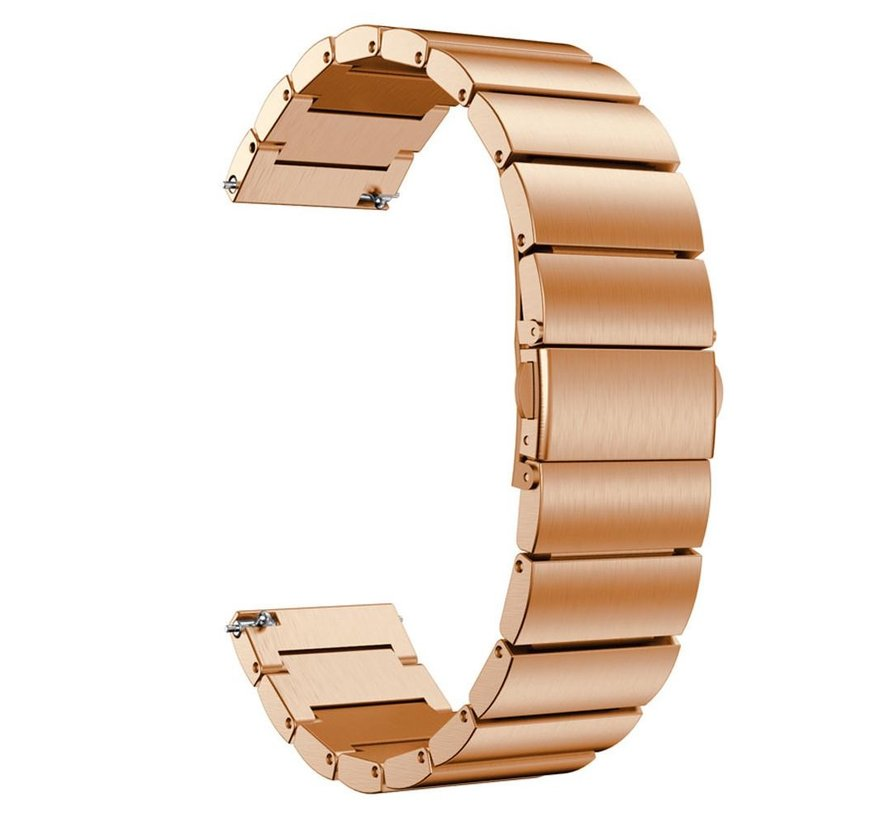 Strap-it® Garmin Vivoactive 3 metalen bandje (rosé goud)