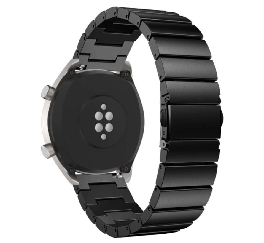 Strap-it® Huawei Watch GT metalen bandje (zwart)