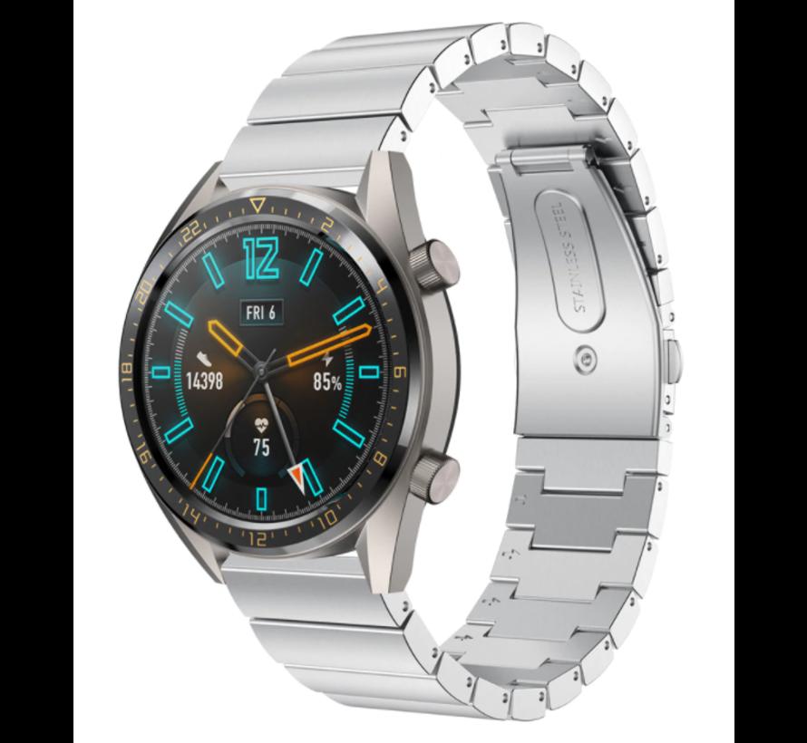 Strap-it® Huawei Watch GT metalen bandje (zilver)