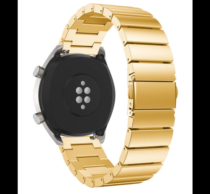 Strap-it® Huawei Watch GT metalen bandje (goud)