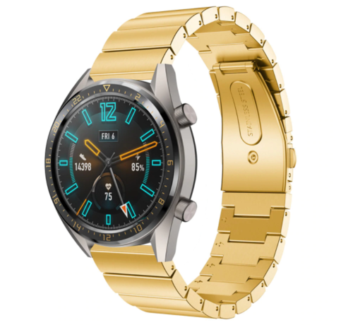Strap-it® Strap-it® Huawei Watch GT metalen bandje (goud)