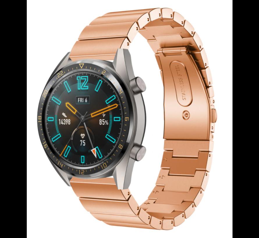 Strap-it® Huawei Watch GT metalen bandje (rosé goud)