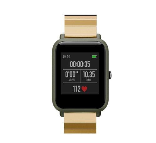 Strap-it® Strap-it® Xiaomi Amazfit Bip metalen bandje (goud)