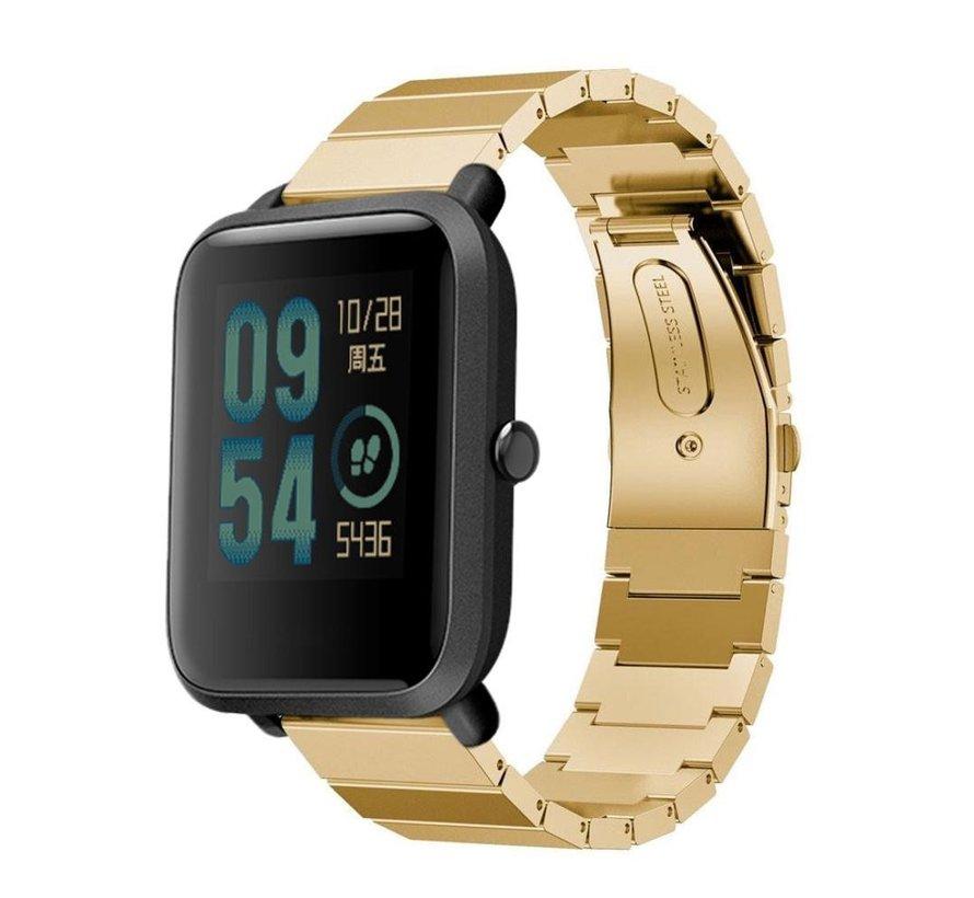 Strap-it® Xiaomi Amazfit Bip metalen bandje (goud)