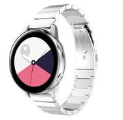 Strap-it® Samsung Galaxy Watch Active metalen bandje (zilver)