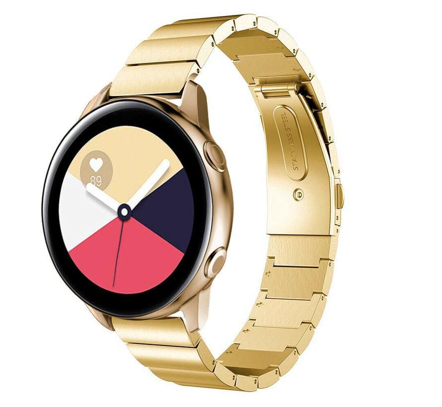 Strap-it® Samsung Galaxy Watch Active metalen bandje (goud)