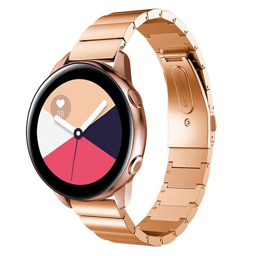 Strap-it® Samsung Galaxy Watch Active metalen bandje (rosé goud)