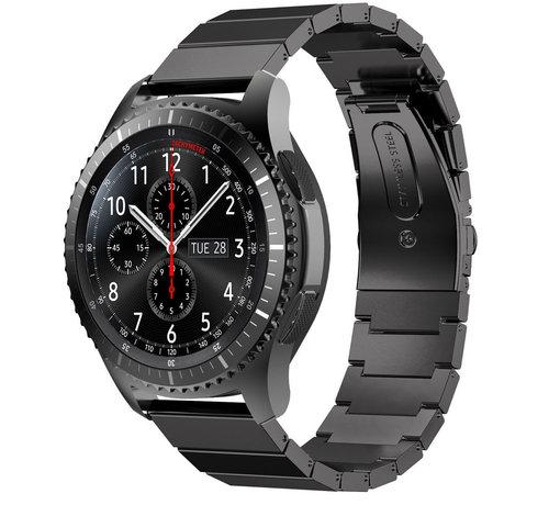 Strap-it® Strap-it® Samsung Galaxy Watch 46mm metalen bandje  (zwart)