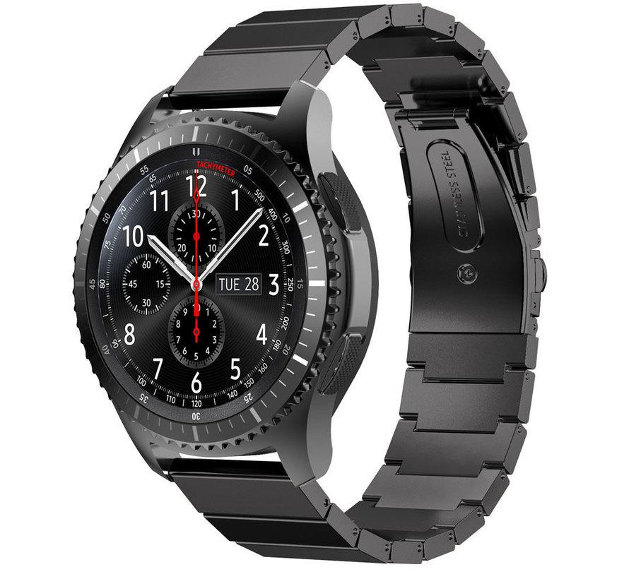 Strap-it® Samsung Galaxy Watch 46mm metalen bandje  (zwart)