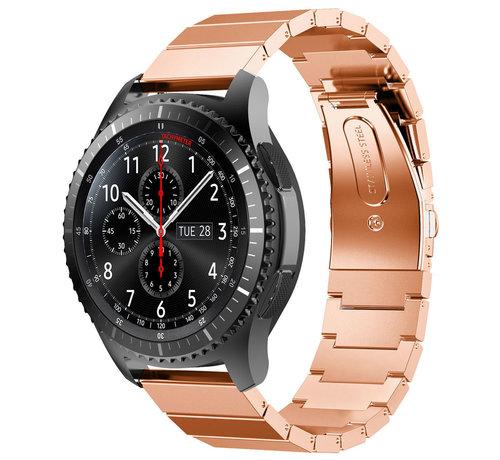 Strap-it® Strap-it® Samsung Galaxy Watch 46mm metalen bandje (rosé goud)