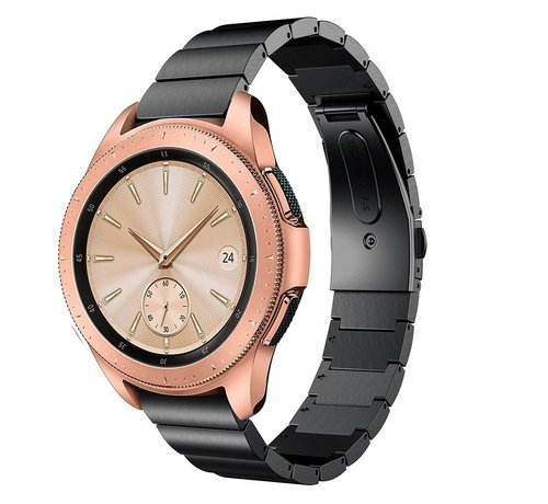 Strap-it® Strap-it® Samsung Galaxy Watch 41mm / 42mm metalen bandje (zwart)