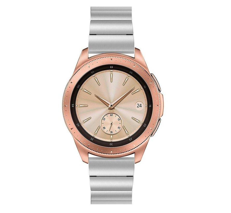 Strap-it® Samsung Galaxy Watch 41mm / 42mm metalen bandje (zilver)