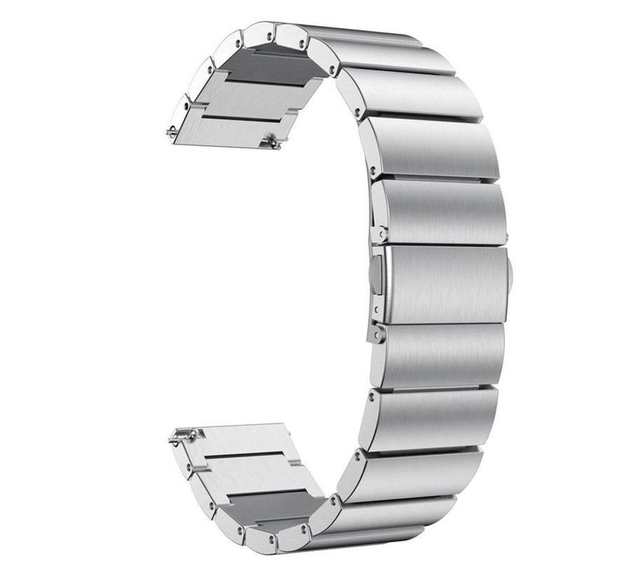 Strap-it® Garmin Vivoactive 4 metalen bandje (zilver)