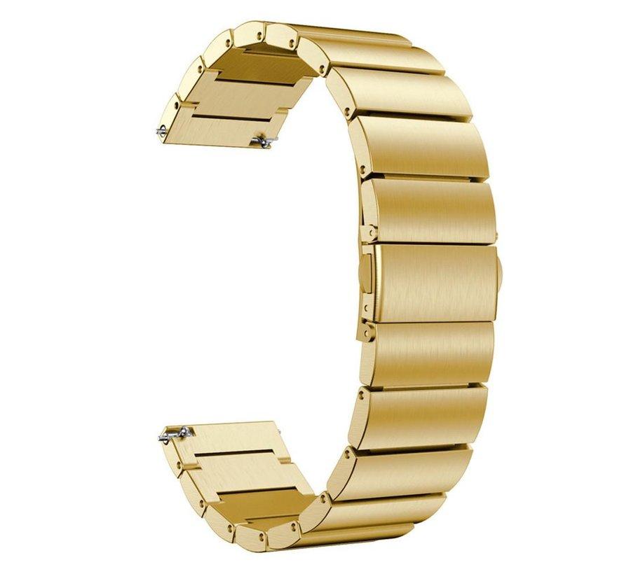 Strap-it® Garmin Vivoactive 4 metalen bandje (goud)