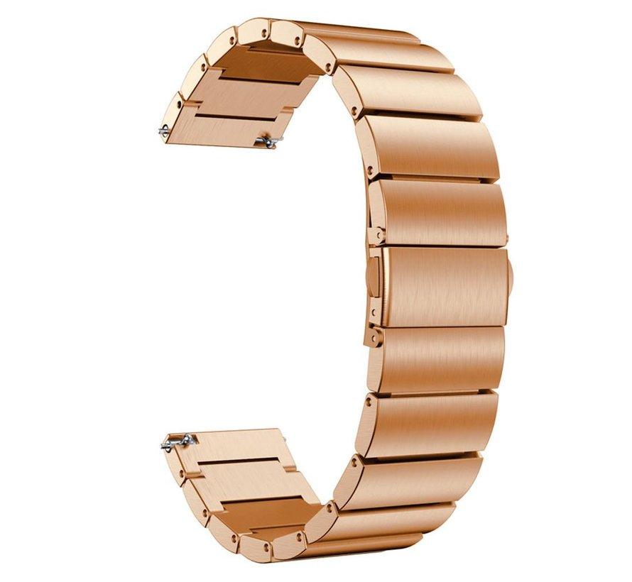Strap-it® Garmin Vivoactive 4 metalen bandje (rosé goud)