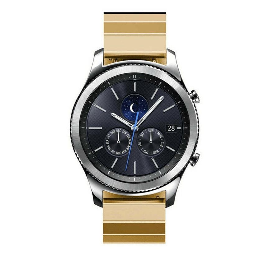 Strap-it® Samsung Gear S3 metalen bandje (goud)