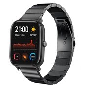 Strap-it® Xiaomi Amazfit GTS metalen bandje (zwart)