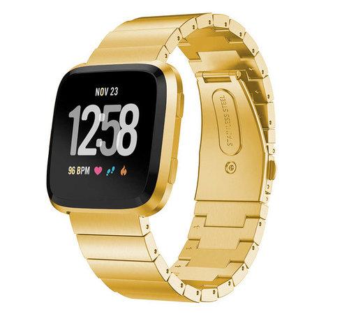 Strap-it® Strap-it® Fitbit Versa metalen bandje (goud)