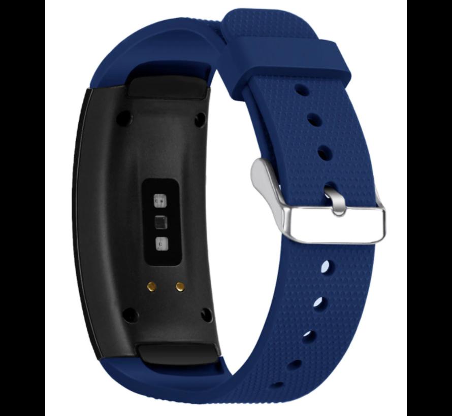 Strap-it® Samsung Gear Fit 2 / Gear Fit 2 Pro siliconen bandje (donkerblauw)