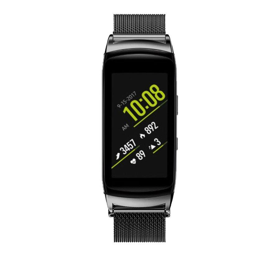 Strap-it® Samsung Gear Fit 2 / Gear Fit 2 Pro Milanese band (zwart)