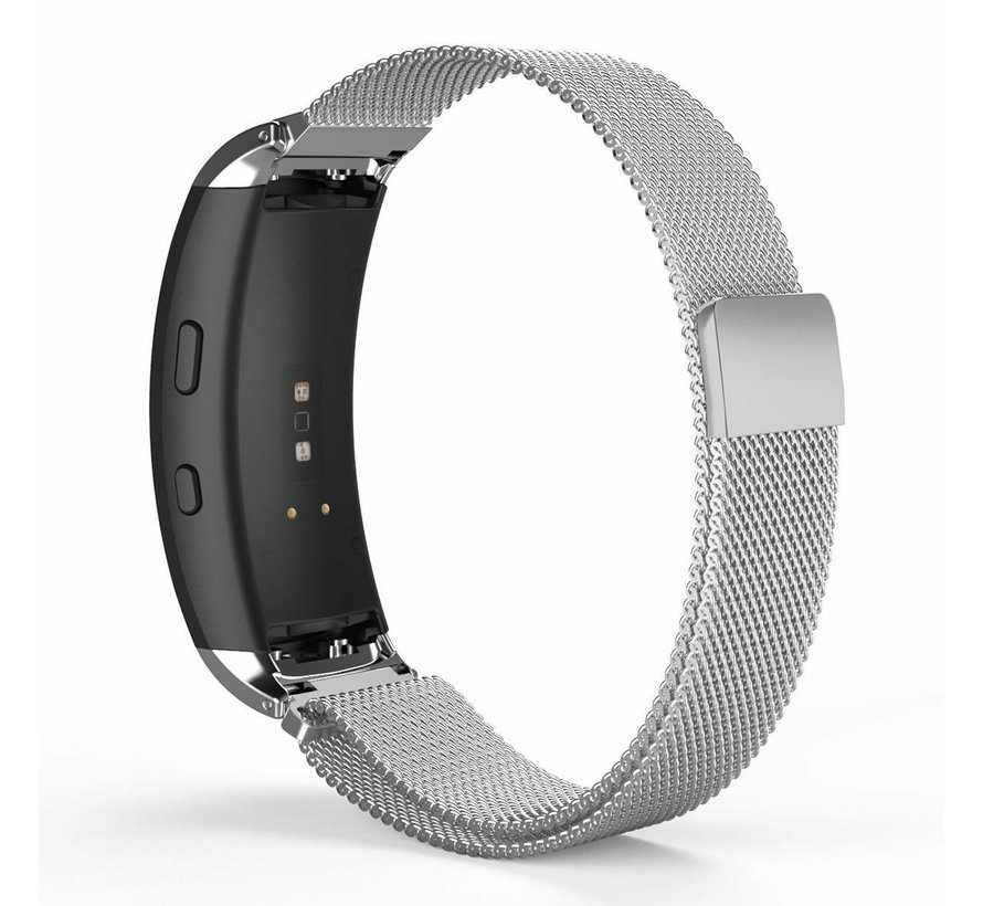 Strap-it® Samsung Gear Fit 2 / Gear Fit 2 Pro Milanese band (zilver)