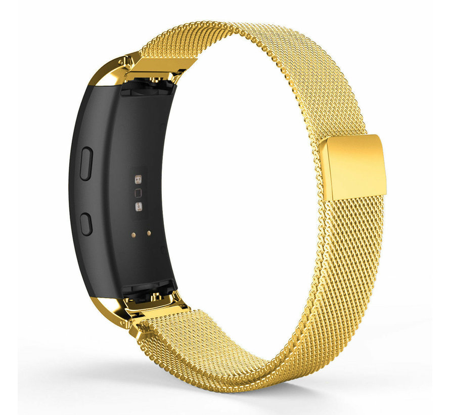 Strap-it® Samsung Gear Fit 2 / Gear Fit 2 Pro Milanese band (goud)
